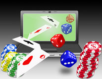 Online gambling royalty free stock photos