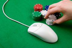 Online Gambling Royalty Free Stock Photos