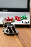 Online gambling addiction Royalty Free Stock Photography