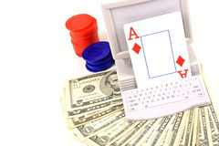 Online Gambling Collection Royalty Free Stock Photos
