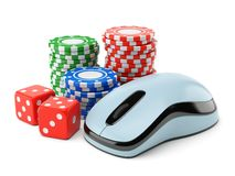 Online gambling concept Stock Photography