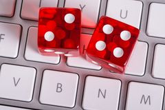 Online gambling concept Royalty Free Stock Photos