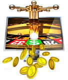 Online gambling Stock Photo