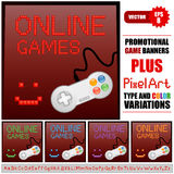 Online game banners Stock Image