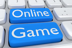 Online Game concept Royalty Free Stock Photography