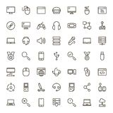 Online game icon set. Stock Images