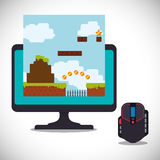 online games control mouse computer Stock Photography