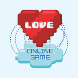 Online games love heart pixel connect Royalty Free Stock Photos