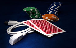 Online gaming Stock Photography