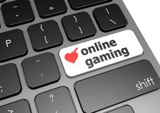 Online gaming. Hi-res original 3d-rendered computer generated artwork Royalty Free Stock Photo