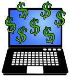 Online geld Stock Foto's
