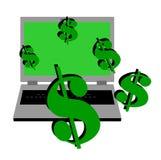 Online geld Stock Afbeeldingen