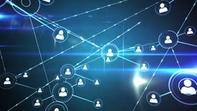 Online gemeenschap op het gloeiende scherm