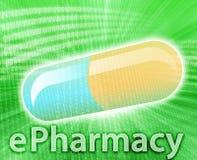 Online Geneeskunde Royalty-vrije Stock Afbeelding