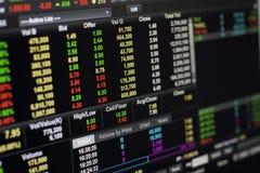 Online giełda papierów wartościowych Zdjęcia Stock