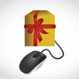 Online gift concept illustration design. Over white Stock Photography