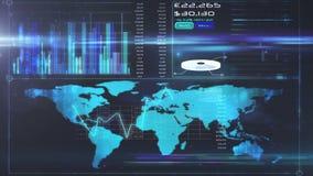 Online global business screen. Digital animation of Online global business screen