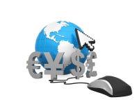 Online Globalne waluty Zdjęcia Royalty Free