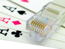 Online gokkend stock foto's