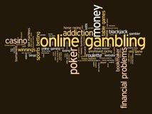 Online gokkend Stock Fotografie