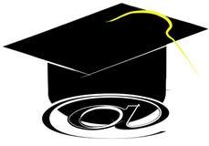 Online graduate Stock Image