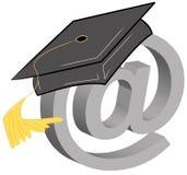 Online graduation Stock Image