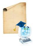 Online graduation certificate Stock Images