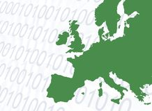 Online green Europe Stock Images