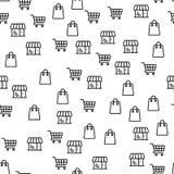 Online Groot de Kortingen Naadloos Patroon van de Winkelaanbieding royalty-vrije illustratie