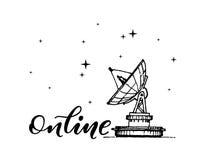 Online-grungetamplate Arkivbild