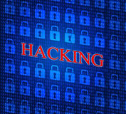 Online Hacking Indicates World Wide Web And Internet Stock Photos