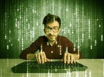 Online hacking in progress concept Stock Photo