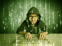 Online hacking in progress concept Royalty Free Stock Photos