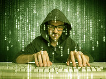 Online hacking in progress concept Royalty Free Stock Photo