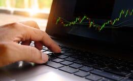 Online handel drijvend op effectenbeurs royalty-vrije stock foto