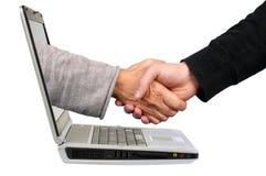 Online- handla överenskommelse arkivbilder