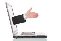 Online handshake Stock Photo