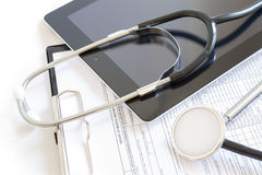 Online health benefits claim form Stock Photography