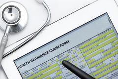 Online health benefits claim form Royalty Free Stock Photography
