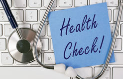 Online health check Stock Image
