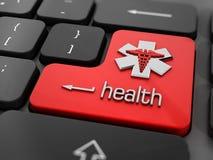 Online health concept. Online health or medicine concept stock image