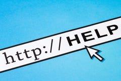 Online help. Computer Screen, concept of online help Royalty Free Stock Image