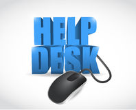 Online help desk sign illustration design Royalty Free Stock Photography