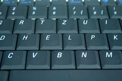 Online help needed. Keyboard with the word HELP spelled on it Royalty Free Stock Photos
