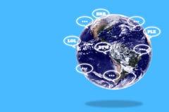 Online het Babbelen Concept Stock Afbeelding