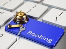 Online het boeken concept Stock Afbeelding