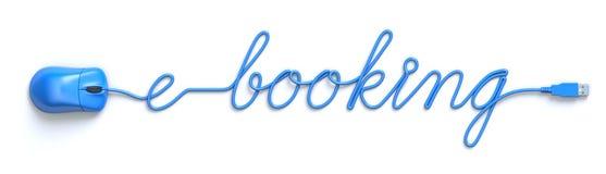 Online het boeken concept Royalty-vrije Stock Foto's