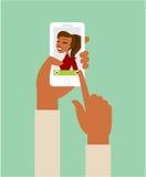 Online het dateren app concept vector illustratie