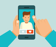 Online het dateren app concept royalty-vrije illustratie