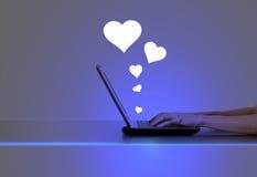 Online het Dateren Concept royalty-vrije stock afbeeldingen
